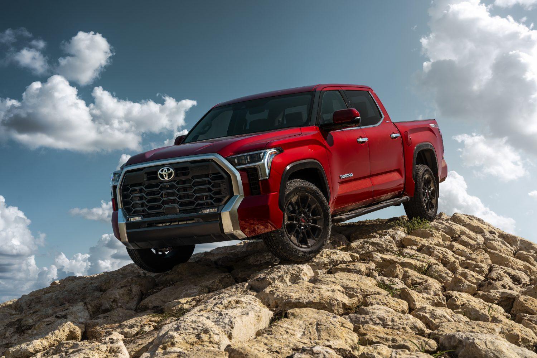 Red 2022 Toyota Tundra