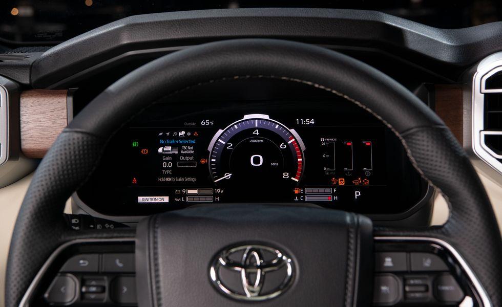 2022 Toyota Tundra gauges
