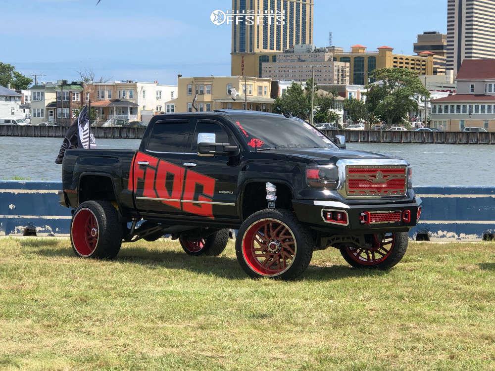 2014 GMC sierra 1500 TIS 544c wheels