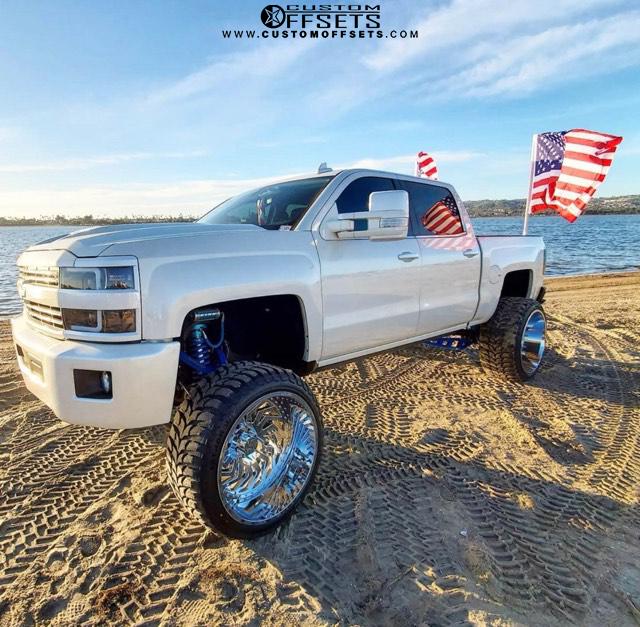 American Flag Silverado