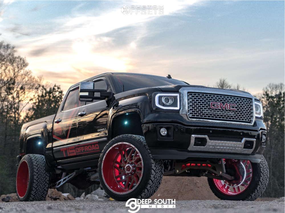 2014 gmc sierra 1500 TIS wheels venom power terra hunter xt tires