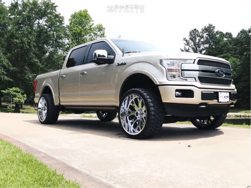 2018 ford f150 hardrock slammer xposed wheels