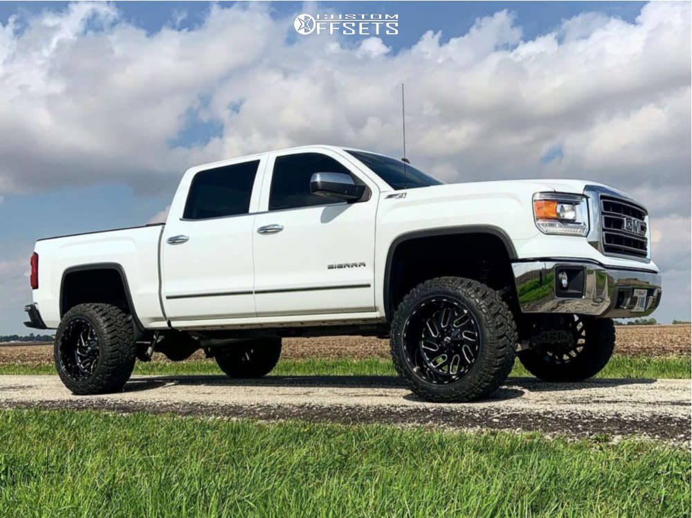 2014 GMC sierra 1500 fuel titan wheels fury offroad country hunter tires rough county suspension